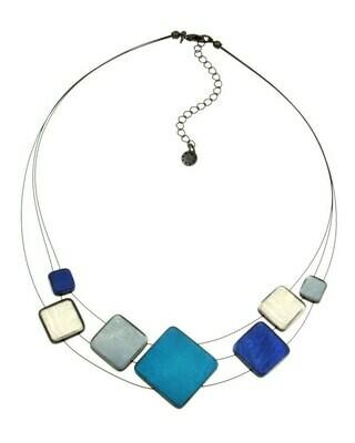 OR Multi Square Blue Strand Necklace