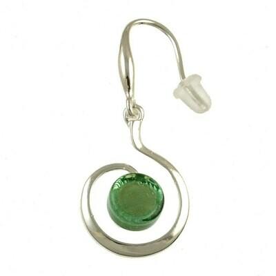 OR Green Swirl Earring