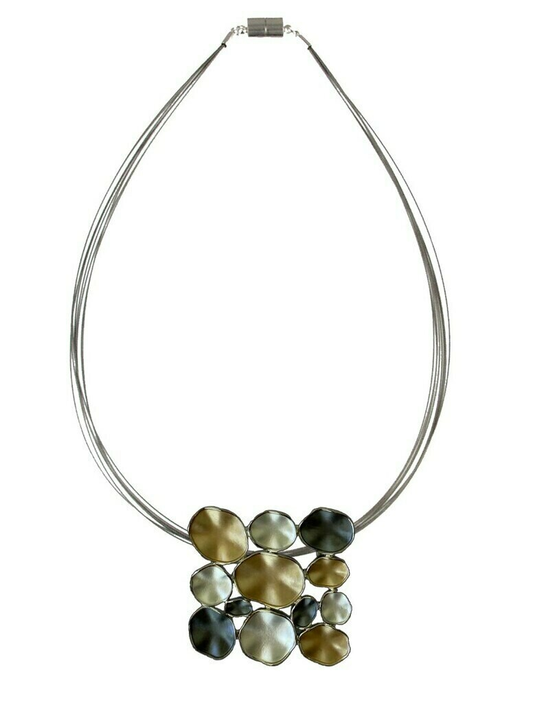 OR Gold Combi Square Necklace