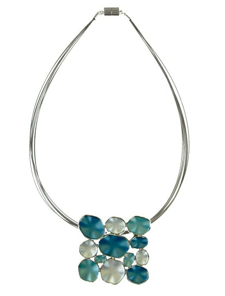 OR Blue Combi Square Necklace