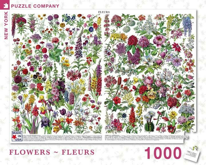 NP Flowers - Fleurs 1,000 PC Puzzle