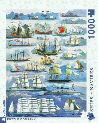 NP Naivres - Ships 1,000 PC Puzzle