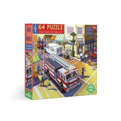 EB Fire Truck in the City 64 PC Puzzle