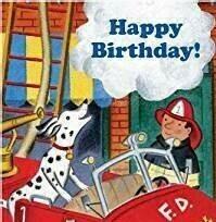 EB Fire Dog B'day Card