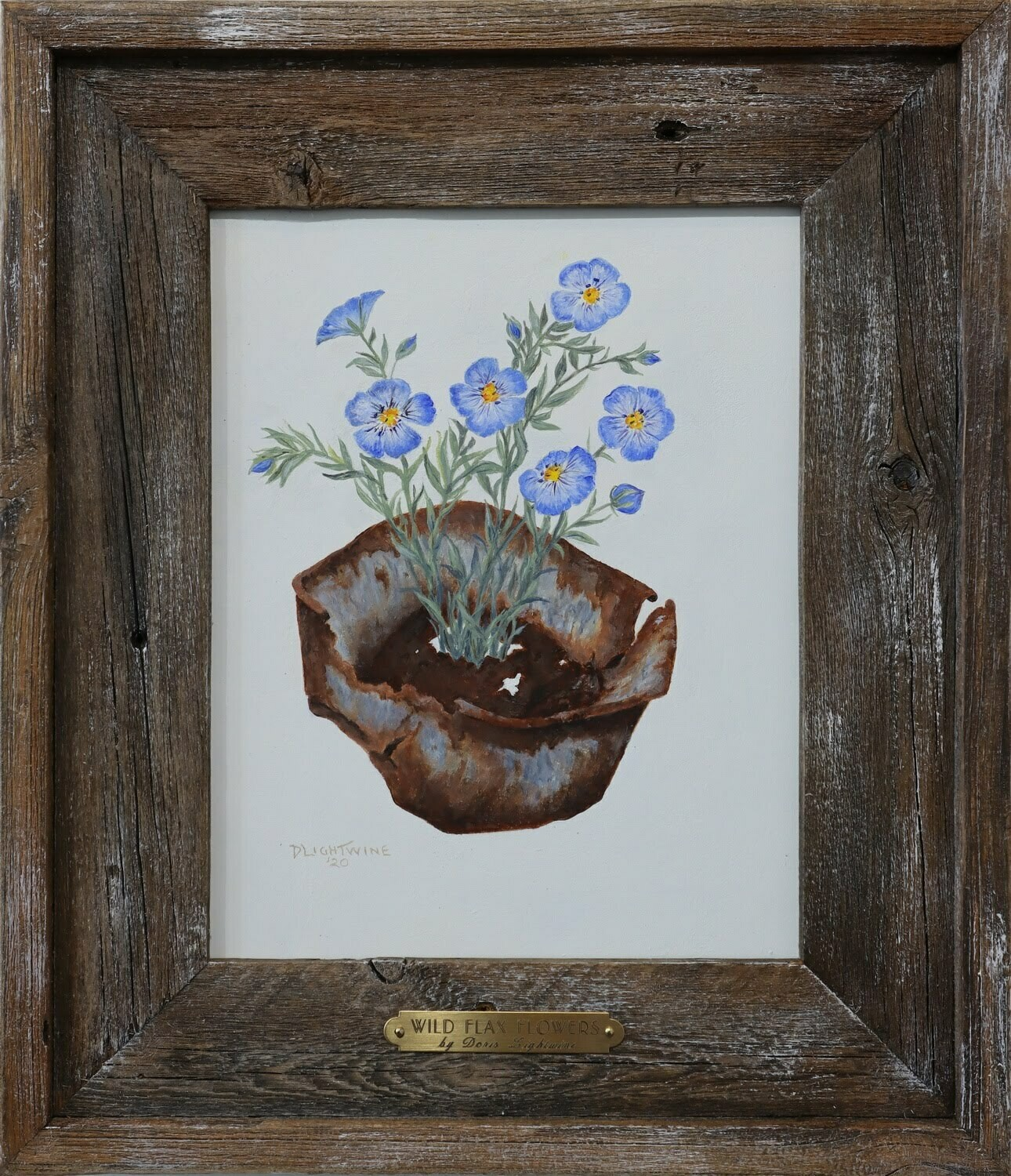 """Wild Flax Flower"" Doris Lightwine"
