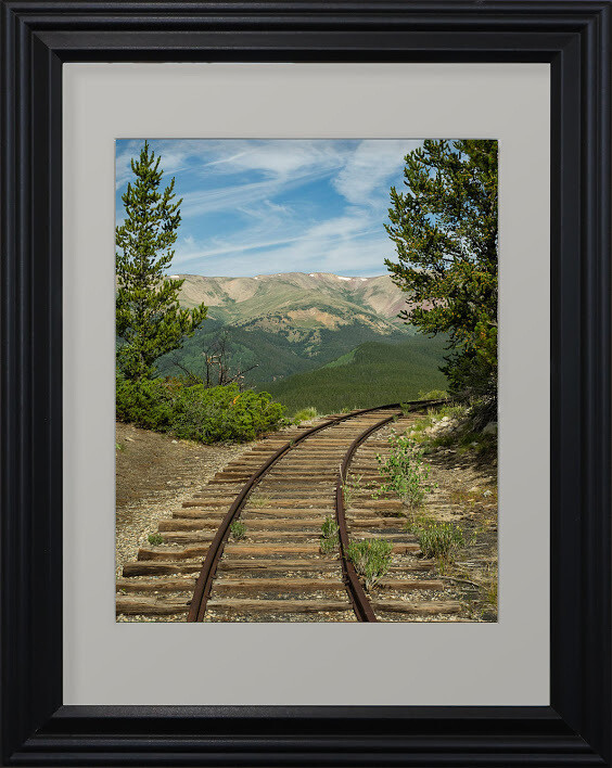 """Around the Bend on the Tracks"" by Carol Campbell"