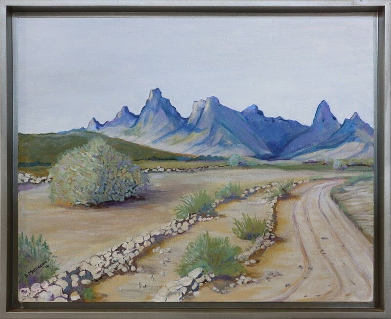 """Dawn at Five Mile Wash/Turtle Mountains"" by Sharon Matheson"
