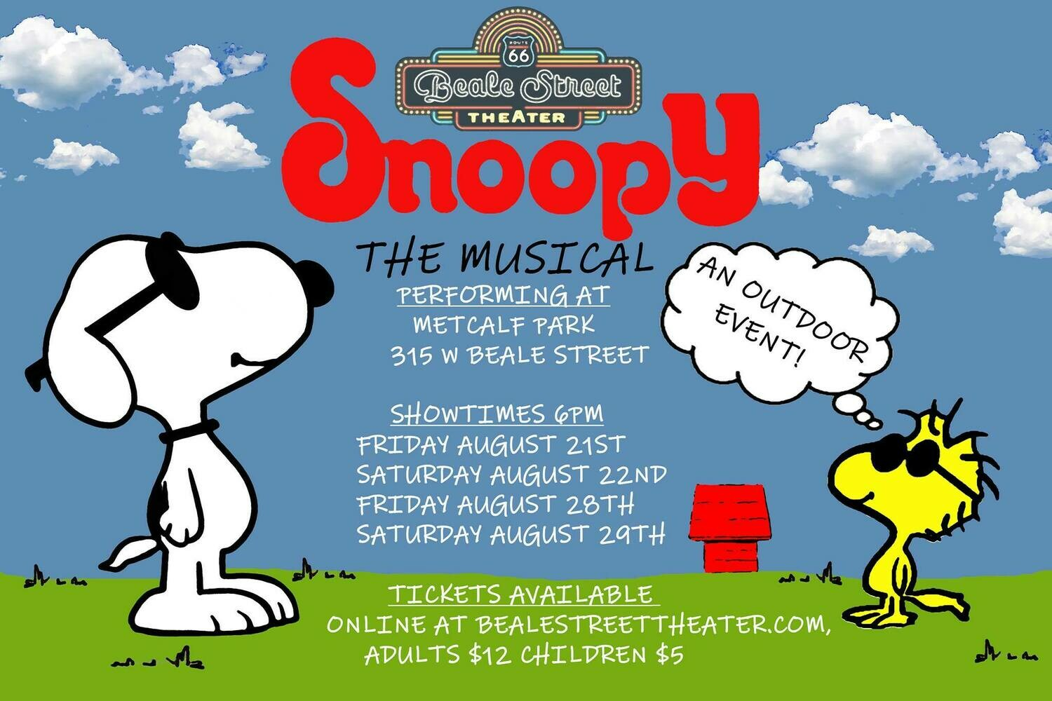 Snoopy August 22nd Adult Ticket