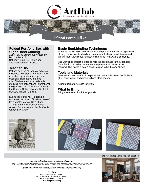 Folded Portfolio Box Workshop