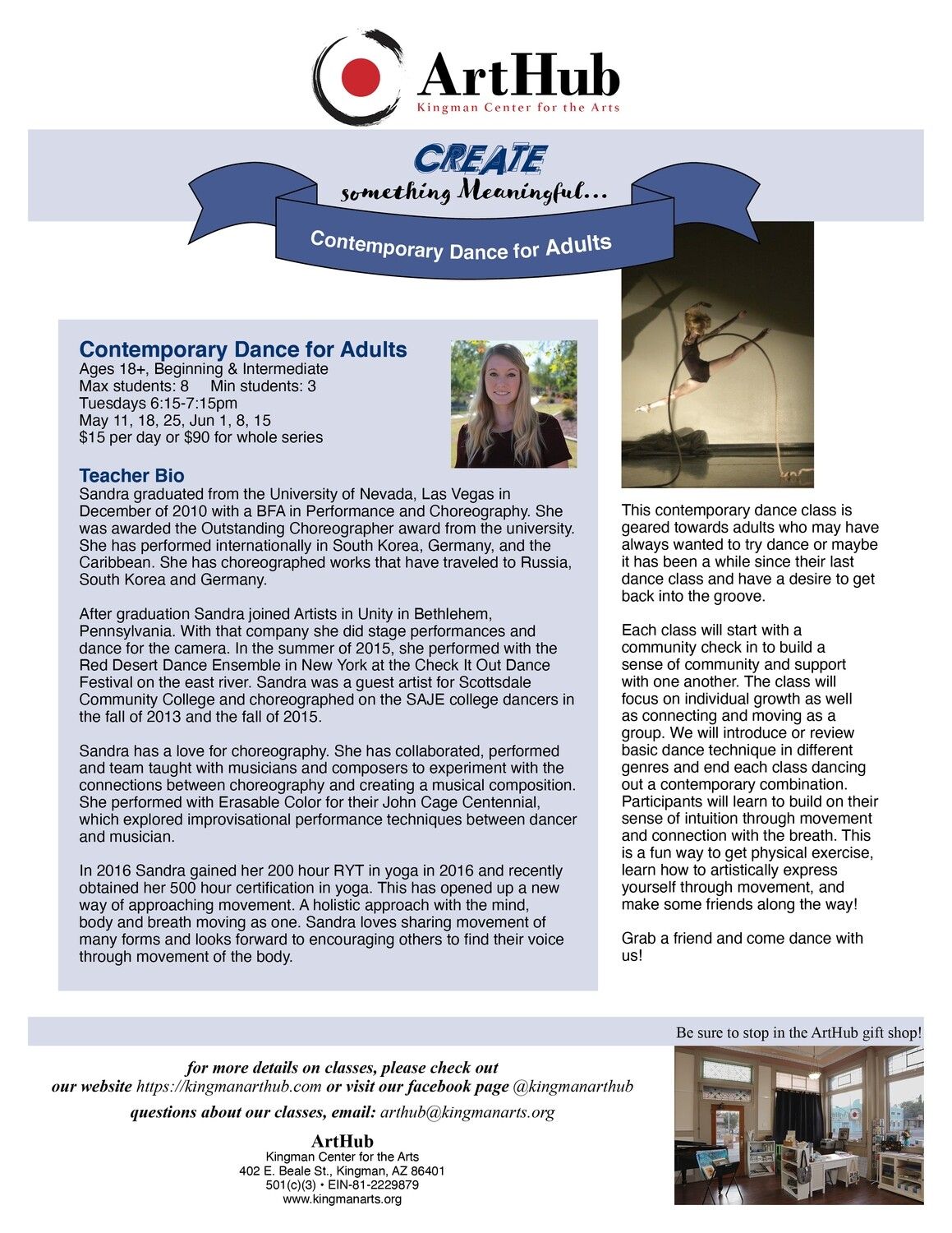 Contemporary Dance for Adults