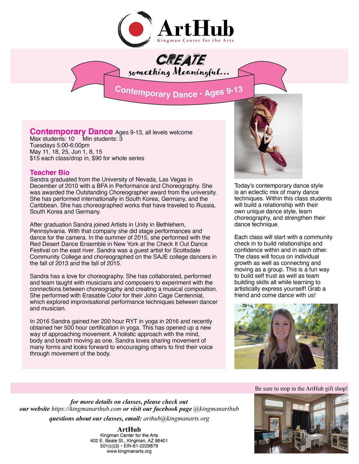 Contemporary Dance Ages 9-13