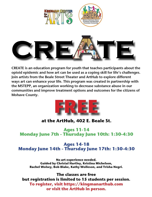 """Create"" Workshop Ages 11-14"