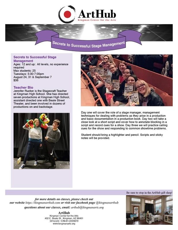 Secrets to Successful Stage Management Workshop