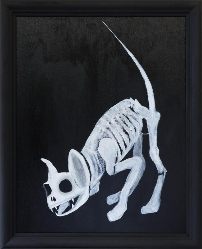 """Skelett Katzchen"""