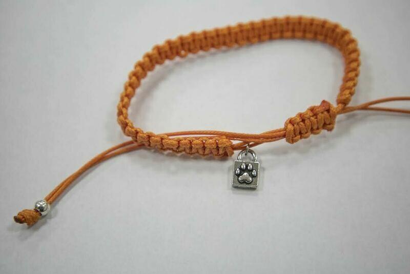 Caring Cord Bracelet- Orange