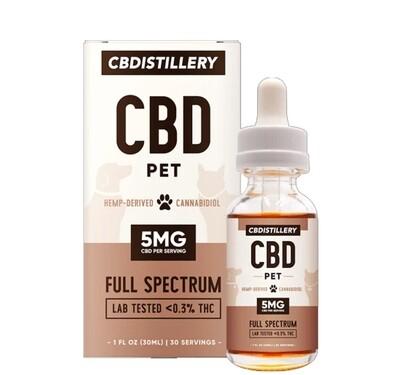 CBDistillery - CBD for Pets -150mg 30ml Tincture
