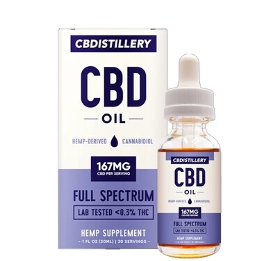 CBDistillery - Full Spectrum CBD Tincture 30ml 5000mg