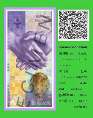 Danke für Ihre Spende / Donation