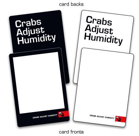 BG Crabs Adjust Humidity Blank Cards