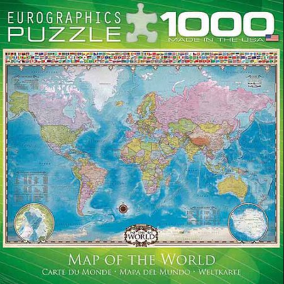 PZ Map of the World (1000)