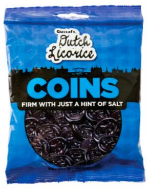 Dutch Black Licorice Coins
