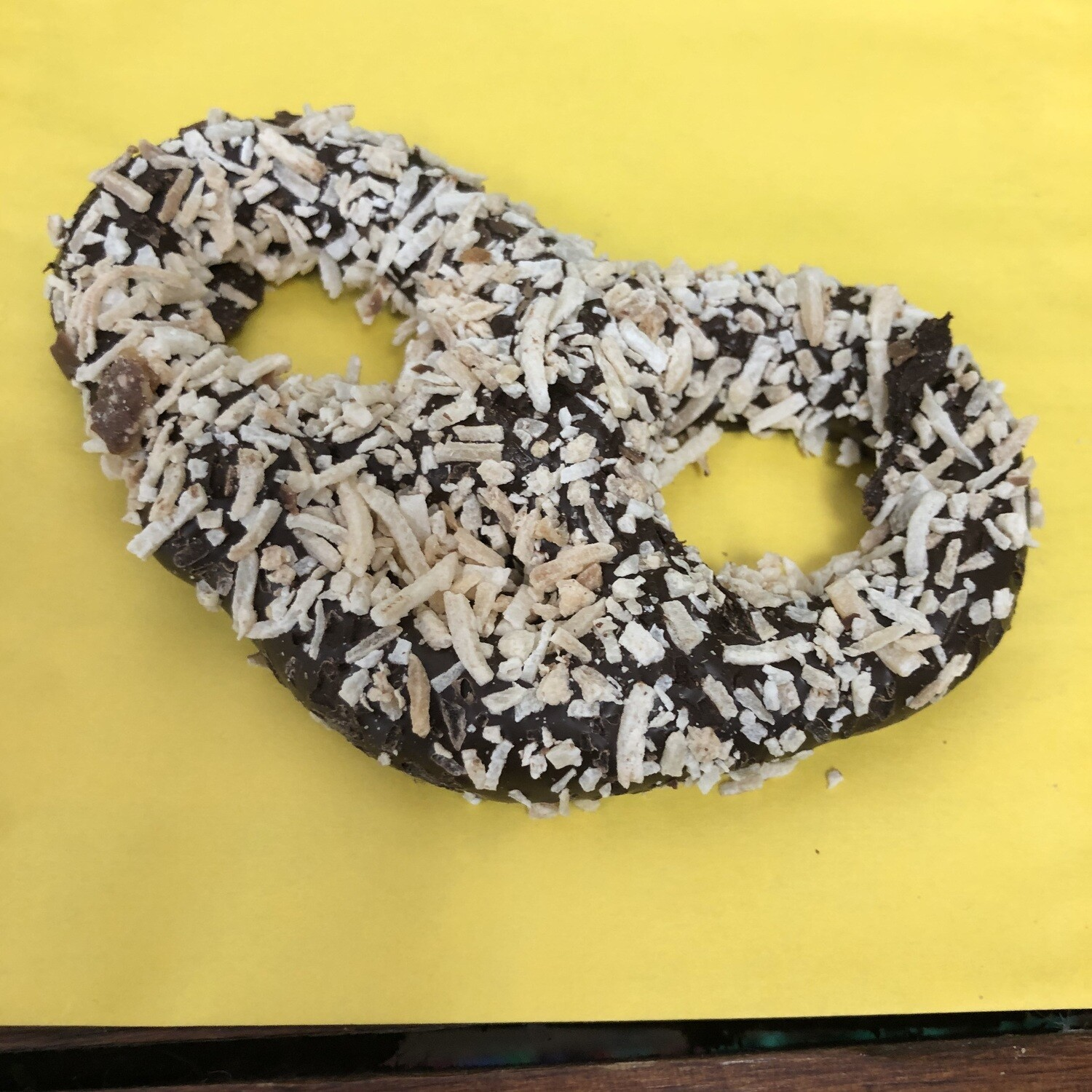 Toasted Coconut Dark Chocolate Pretzel