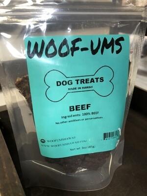 Woof Ums Beef Jerky 3oz