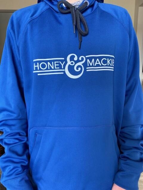 Blue Athletic Tri-blend hooded sweatshirt