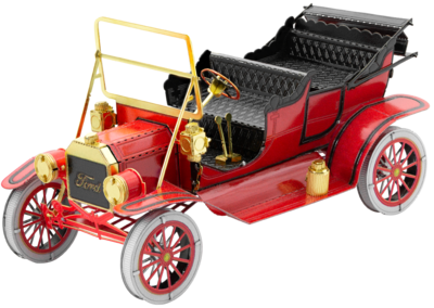METAL EARTH 1908 MODEL T RED