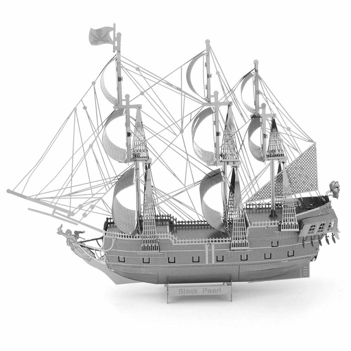 METAL EARTH ICONX BLACK PEARL SHIP