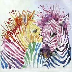 DIAMOND DOTZ RAINBOW ZEBRAS