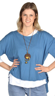Catherine Lillywhite's - Open Back Tunic with Necklace