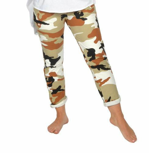 Catherine Lily White-BROWN CAMOFLAUGE JEAN