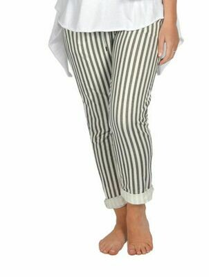 Catherine Lillywhite's-Black Wide Stripe Jean