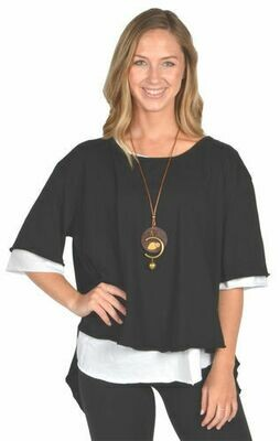 Catherine Lillywhite's-Black Open Back Tunic with Necklace