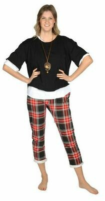 Catherine Lillywhite's-Red Plaid Jean