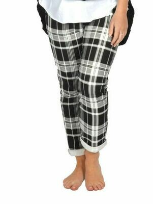 Catherine Lillywhite's-Black Plaid Jean