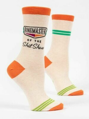 Blue Q Crew Socks - Ringmaster of the Shitshow