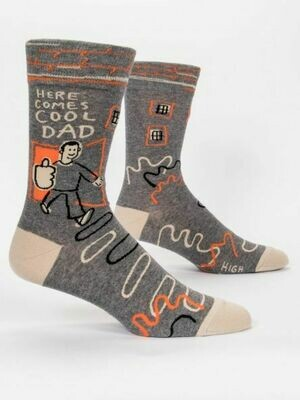 Blue Q Mens Socks - Here Comes Cool Dad
