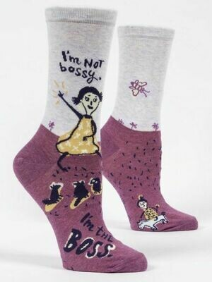 Blue Q Crew Socks - I'm Not Bossy, I'm the Boss