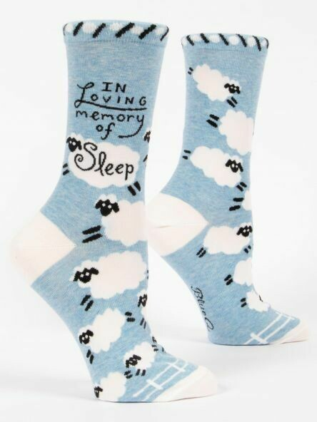 Blue Q Crew Socks - In Loving Memory of Sleep