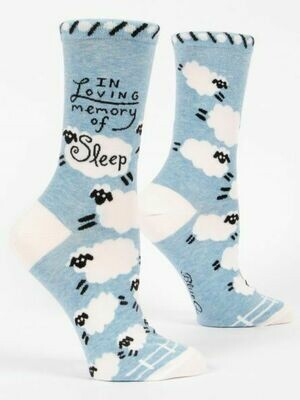 Blue Q Crew Socks - In Loving Memory of Sleep