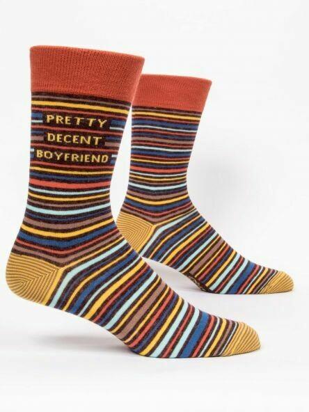 Blue Q Mens Socks - Pretty Decent Boyfriend
