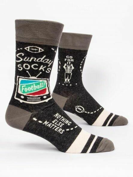 Blue Q Mens Socks - Sunday Socks. Football Nothing Else Matters.