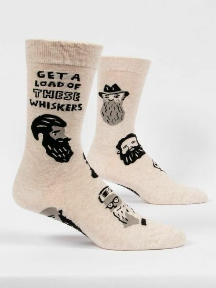 Blue Q Mens Socks-Get A Load Of These Whiskers