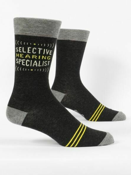 Blue Q Mens Socks - Selective Hearing Specialist