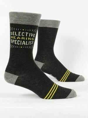 Blue Q Mens Socks - Selective Hearing