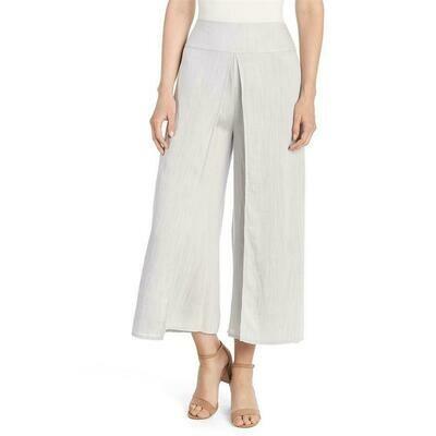 Coco & Carmen-Flap Front Pant-Silver - L/XL