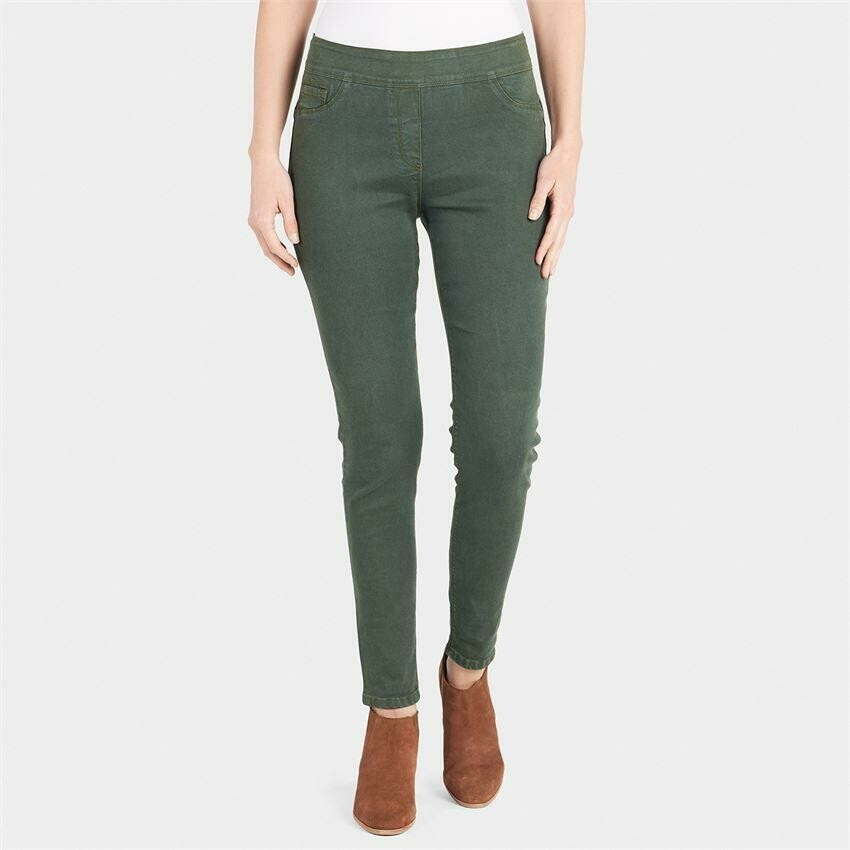 Coco & Carmen-OMG Colored Skinny Jeans-Thyme - L