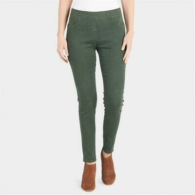 Coco & Carmen-OMG Colored Skinny Jeans-Thyme - XL